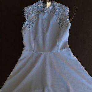 Baby blue lace collar Francesca's dress